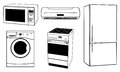 Appliances set of different household Royalty Free Stock Photo