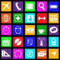 Application colorful icons on black background se set stock vector Stock Photo