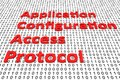 Application configuration access protocol