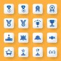 Application design icons set. award sign and symbol artwork. Royalty Free Stock Photo