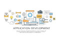 Application Development Create Design Site Programming Coding Set Icon Collection