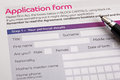 Application form Royalty Free Stock Photo