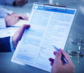 Application Form Job Interview Employment Concept Royalty Free Stock Photo