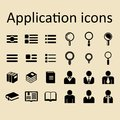 Application vector icons for site or app