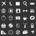 Application icons on black background set stock vector Royalty Free Stock Photo