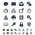 Application icons simple clear and sharp easy to resize Royalty Free Stock Photos