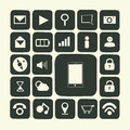 Application icons for smartphone and web Royalty Free Stock Images