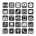 Application icons for smartphone and web vector illustration Stock Photography