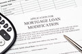 Application for Mortgage Loan Modification Stock Photos
