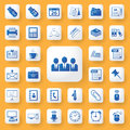 Application office tools sign and symbol icons set. Royalty Free Stock Photo