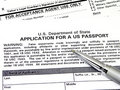 Application For A U.S. Passport Stock Photography