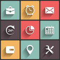 Application web icons in flat design for and mobile Royalty Free Stock Photo