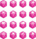 Applications Cube Icon Series  Stock Image
