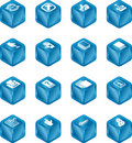 Applications Cube Icon Series  Stock Images