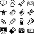 Applications Icon series set Stock Images