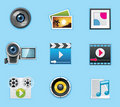 Applications and services icons Stock Images