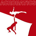 Applique on acrobatics Royalty Free Stock Photo