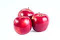 Appls the photo of ripe apples red on a white background Royalty Free Stock Photos