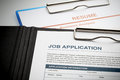 Apply for new job by application and resume document image Stock Photography