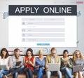 Apply Online Membership Registration Follow Concept Royalty Free Stock Photo
