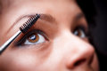 Applying mascara Royalty Free Stock Photo