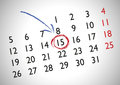 Appointment in a generic calendar for marking an important date Royalty Free Stock Image