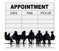 Appointment schedule memo management organizer urgency concept Royalty Free Stock Images