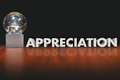 Appreciation Word Award Trophy Prize Employee Recognition Royalty Free Stock Photo