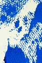 Abstract texture of blue gouache, printmaking detail Royalty Free Stock Photo