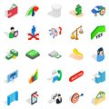 Apprehension icons set, isometric style Royalty Free Stock Photo