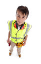 Apprentice builder Stock Photo