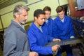 Apprentice measuring piece flat metal