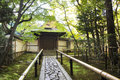 Approach road to the temple, Koto-in a sub-temple of Daitoku-ji Royalty Free Stock Photo