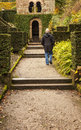 Approaching arch at biddulph grange man staffordshire Stock Images