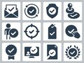 Approve, Check Mark and Confirm Icons Royalty Free Stock Photo
