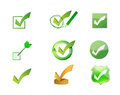 approve check marks icon set illustration design Royalty Free Stock Photo