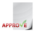 Approve paper document check mark concept Royalty Free Stock Images