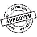 Approved abstract grunge rubber stamp Royalty Free Stock Photo
