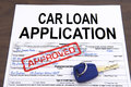 Approved car loan application form Royalty Free Stock Photo
