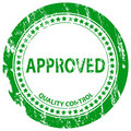 Approved grunge stamp Stock Images