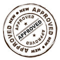 Approved ink stamp Royalty Free Stock Image