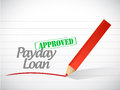 Approved payday loan stamp illustration design over a white background Stock Photos