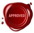 Approved, red wax seal  () Royalty Free Stock Photography