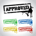 Approved sign stamp Royalty Free Stock Photos
