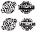 Approved stamp an approval rubber set Royalty Free Stock Image