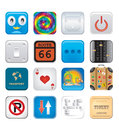 Apps icon set six Stock Images