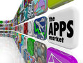 The Apps Market Wall Application Software Icons Stock Image