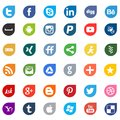 Apps social media networking logo signs Royalty Free Stock Photo