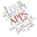 Apps Word Cloud Concept Angled Stock Images