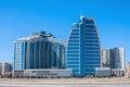04 APR 2017 Nobel Avenue, Baku, Azerbaijan. Business center Openwork and a complex